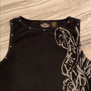 Harley-Davidson Tops - Authentic Harley Davidson studded  & fitted tank